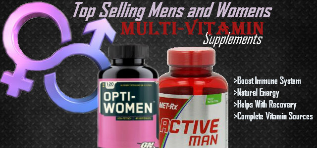 Top Selling Mens and Womens Multivitamins