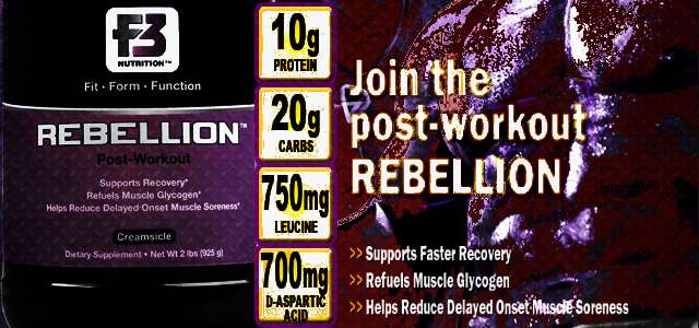 F3 Nutrition Rebellion Post-Workout Review